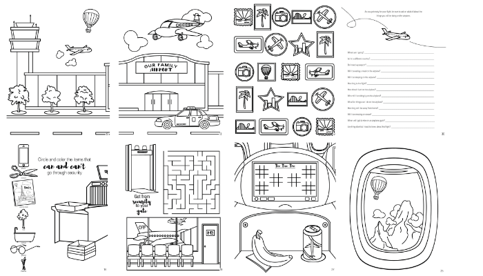 Taking Flight Activity Coloring Book Our Family Passport