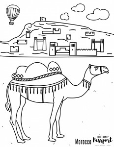 Morocco Desert Coloring Page Our Family Passport