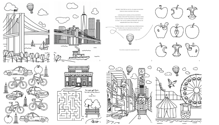 New York City Activity And Coloring Book - Our Family Passport