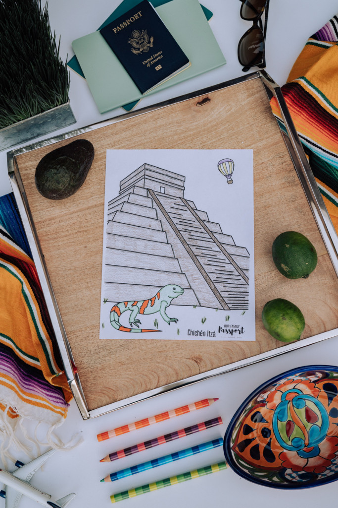Colored Mexico coloring page