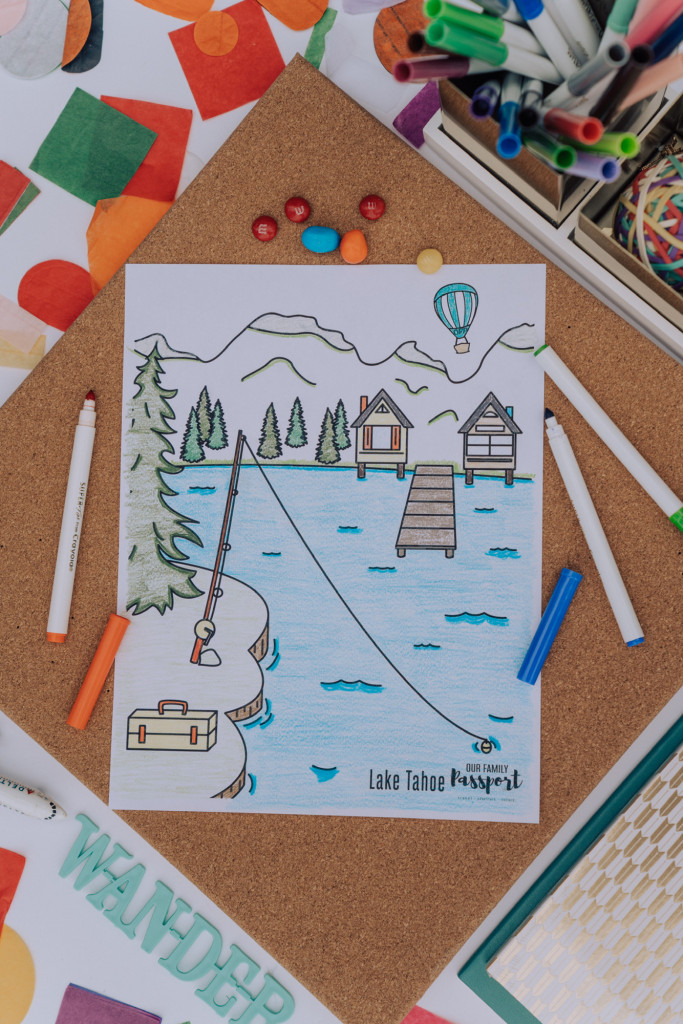 lake tahoe coloring page for kids