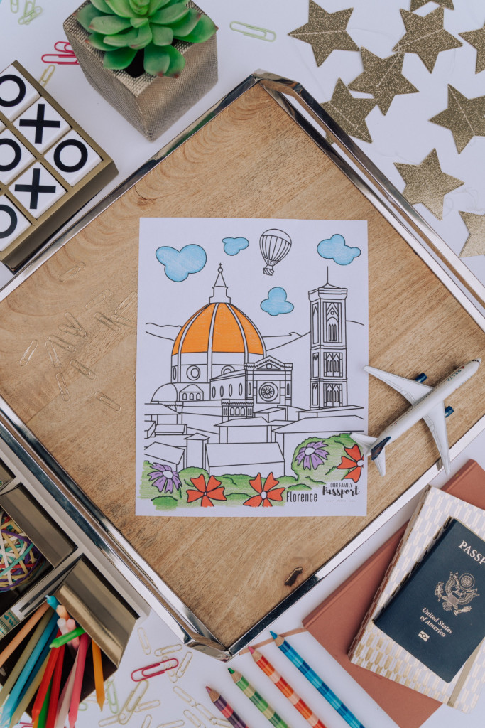 Colored Florence Italy kids coloring page