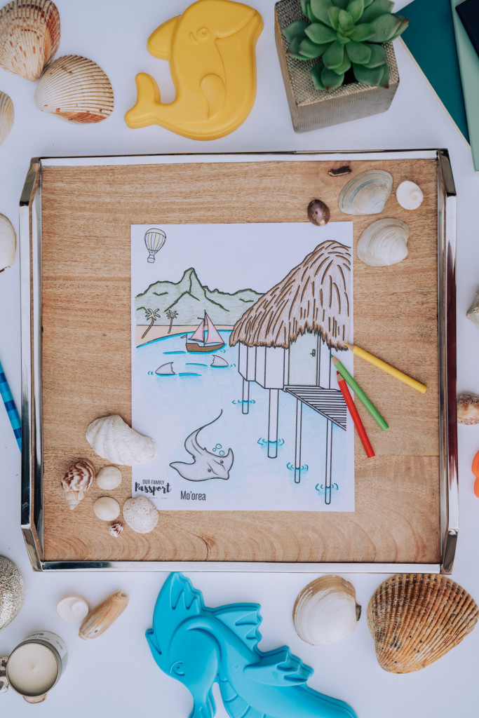 Moorea Beach Coloring Page