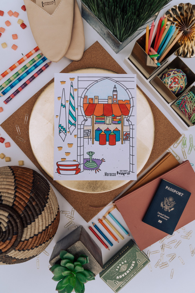 Moroccon Market coloring page colored for kids