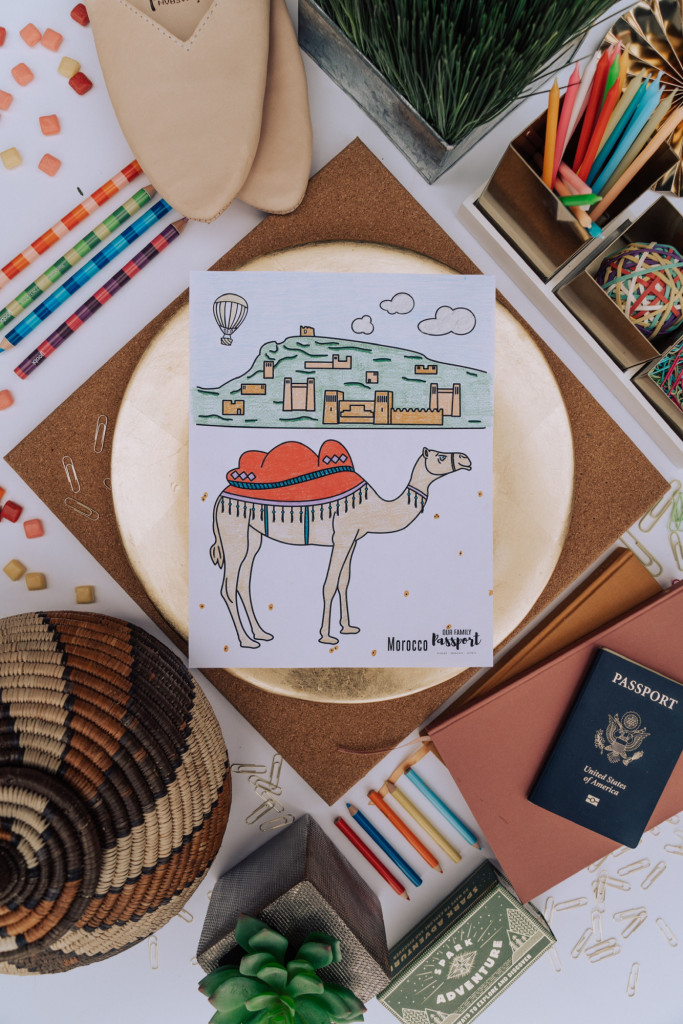 Morocco Desert Coloring Page for kids