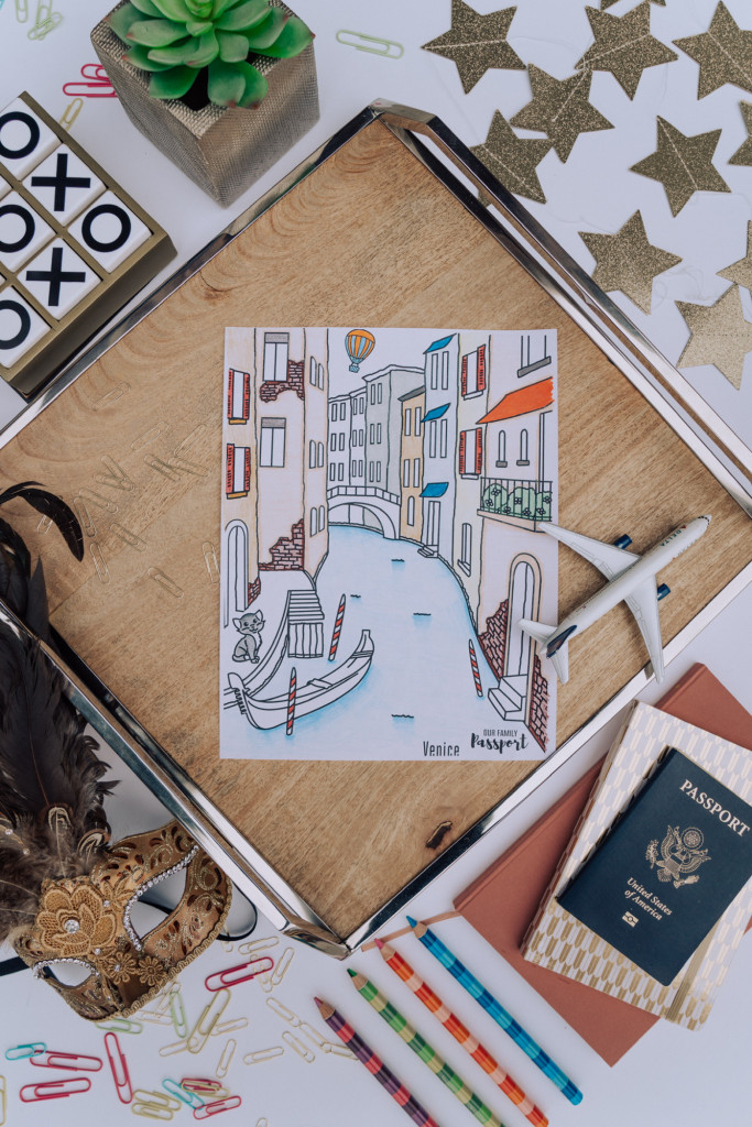 Venice colored coloring page for kids